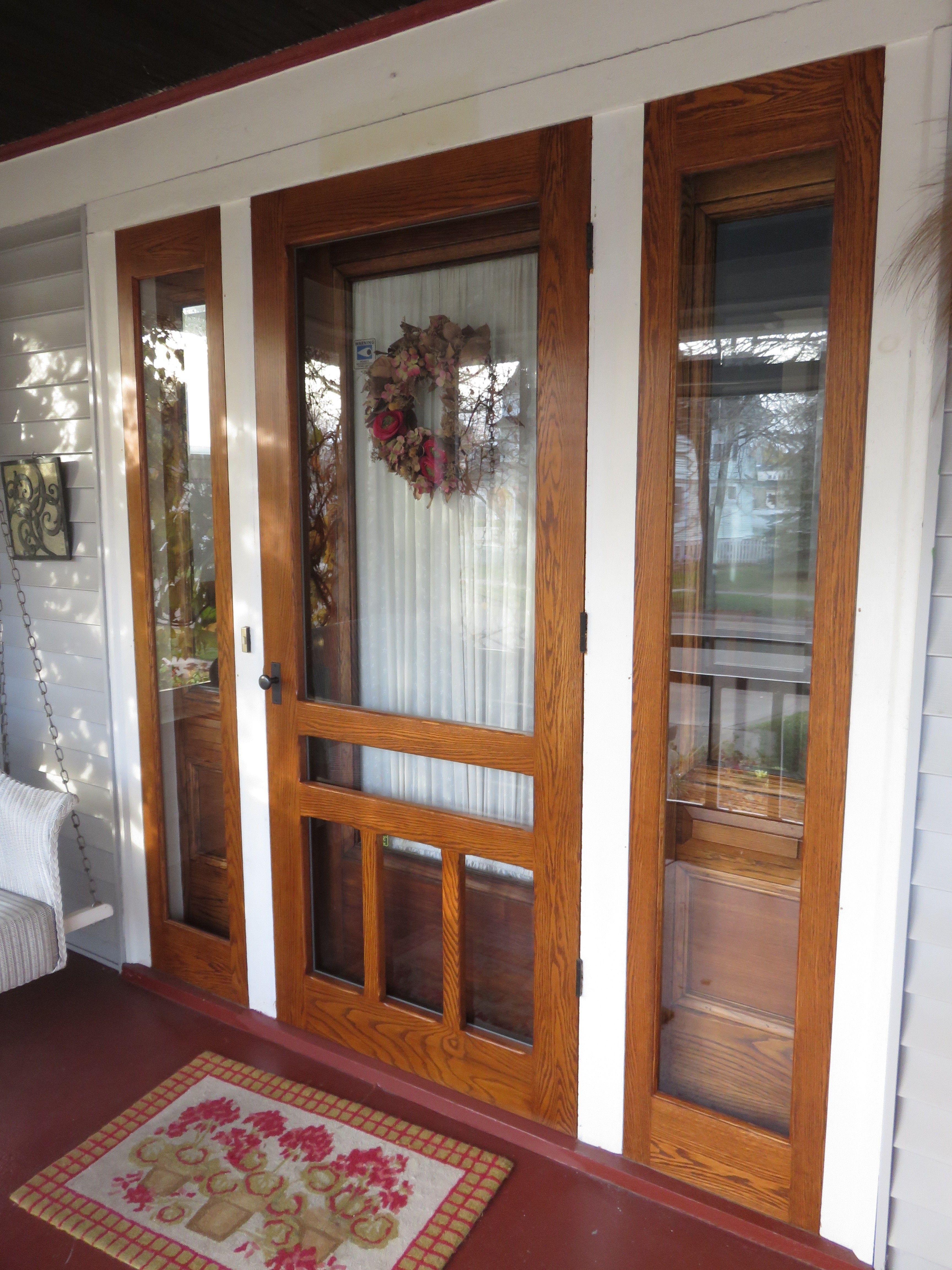 Traditional Screen Storm Doors L Welcome Model Screen Storm Door With Sl 01 Storm Sidelights Http Wooden Screen Door Glass Storm Doors Glass Screen Door
