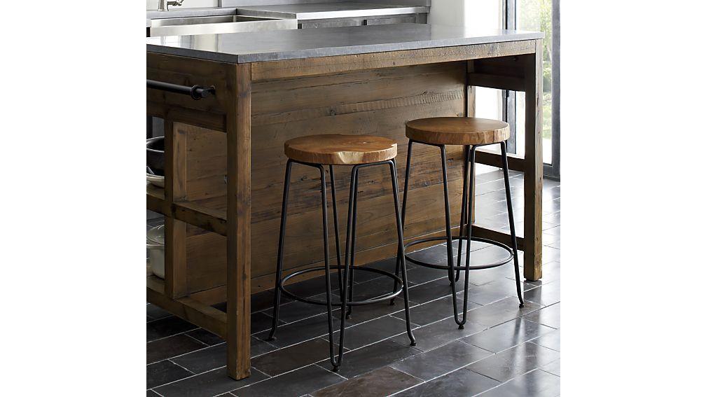 Origin Backless Bar Stools Crate And Barrel Backless Bar