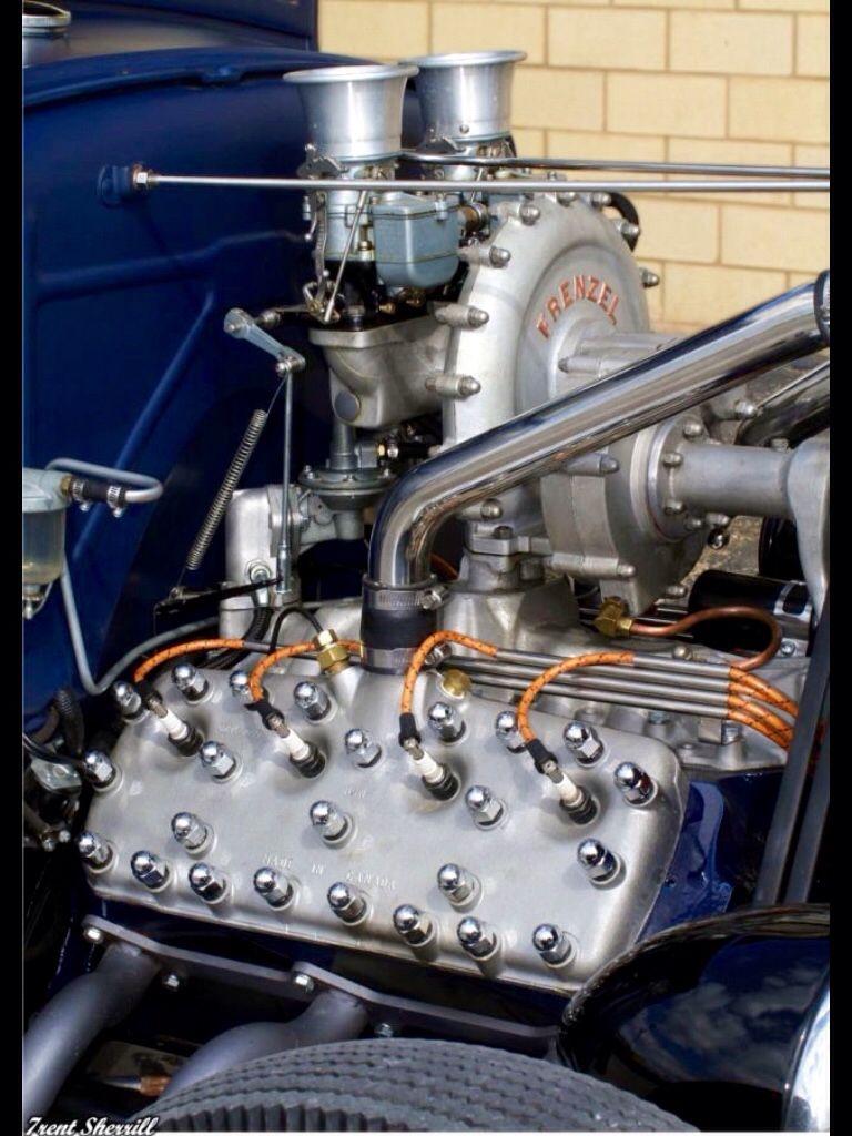 Frenzel Flathead Supercharger, Denver, CO. Produced late \'49, it ...