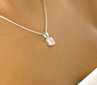 6fa770a36c1a6 Square Diamond Pendant Necklace | FairyBlingMother | Accessorize ...