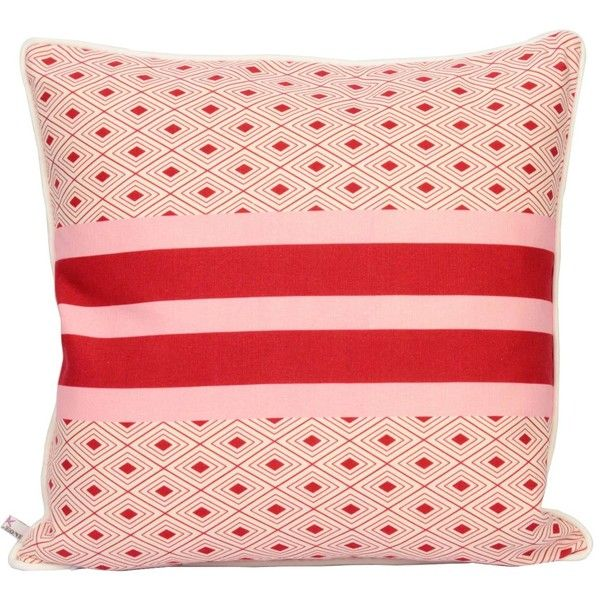 Dar Leone - Savane Indio Pillow ($86) ❤ liked on Polyvore featuring home, home decor, throw pillows, inspirational home decor, handmade home decor, pink throw pillows, pink toss pillows and pink home decor