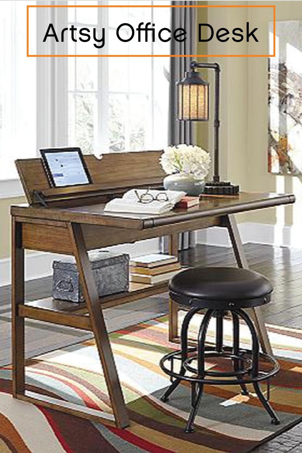 This Home Office Desk Artfully Blends Rustic Charm And Modern Polish. The  Hinged, Flip