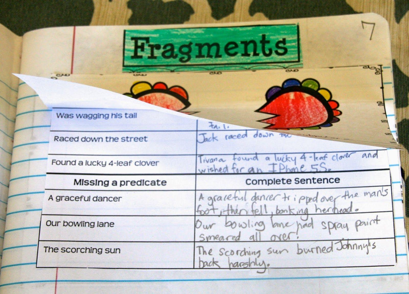 Writing Mini Lesson 3 Fragments Writing Mini Lessons Interactive Writing Mini Lessons