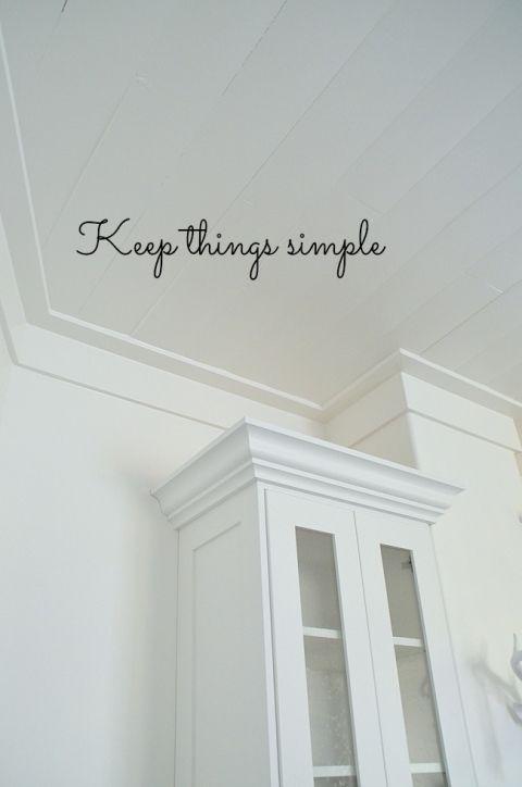 Keep Things Simple   Love This Ceiling Trim Photo