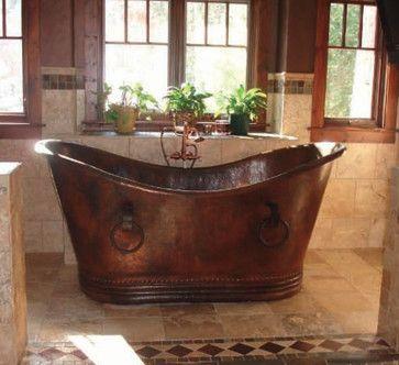 rustic bathtub - traditional - bathtubs - phoenix - rusticsinks