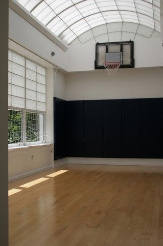 Andrea Raisfeld Locations Home Basketball Court Basketball Room Indoor Basketball