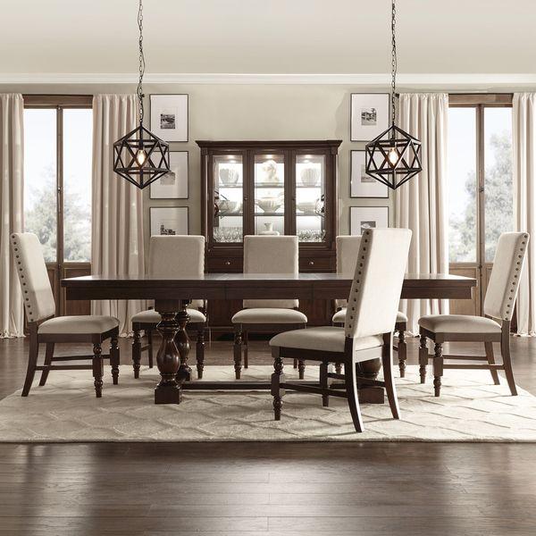 flatiron baluster extending dining set by inspire q classic by inspire q - Rustic Dining Set