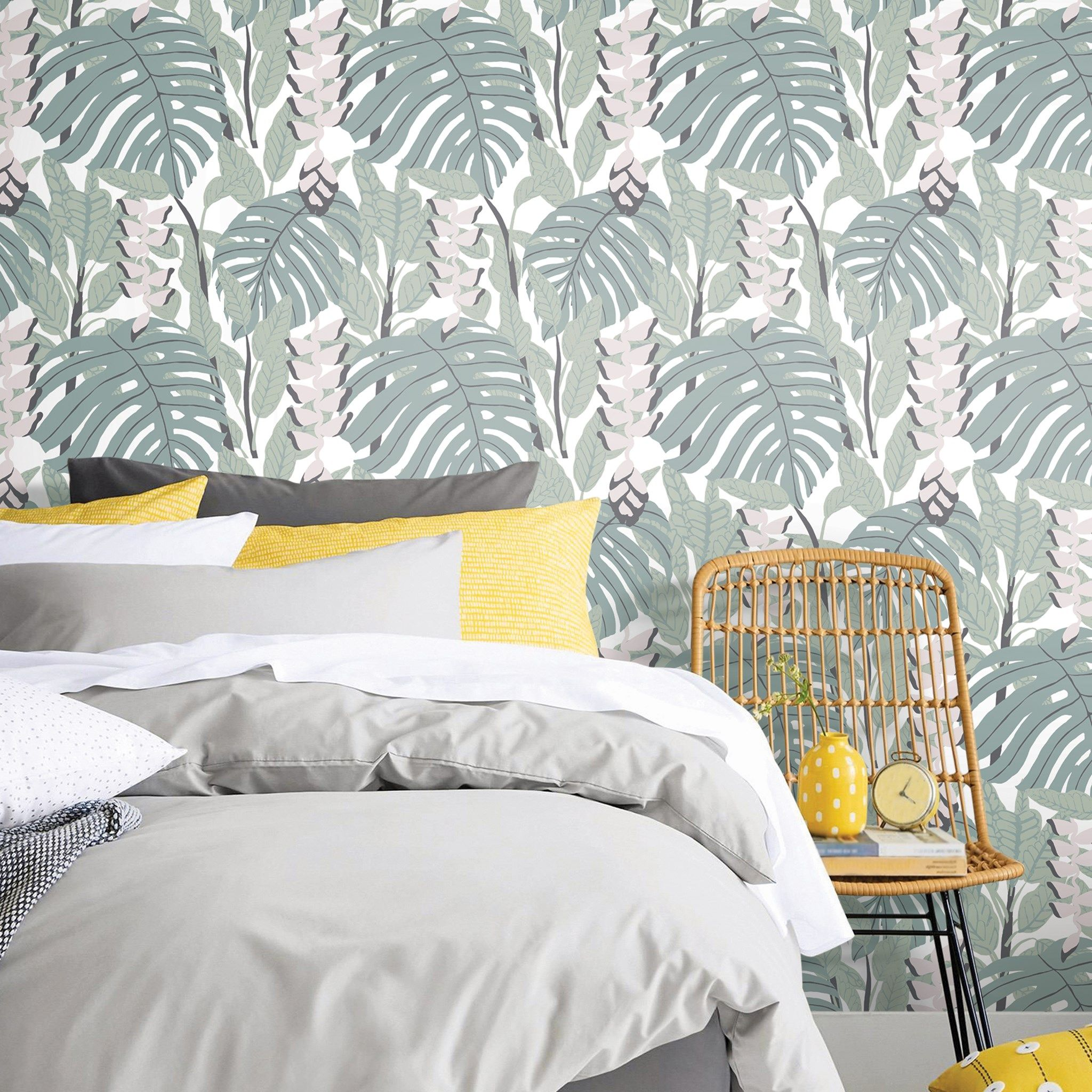 Inspired By The Lush Foliage Of Indonesia Remember We Are Currently Offering Curbside Pickup Delivery Or You Room Visualizer Peel And Stick Wallpaper Decor