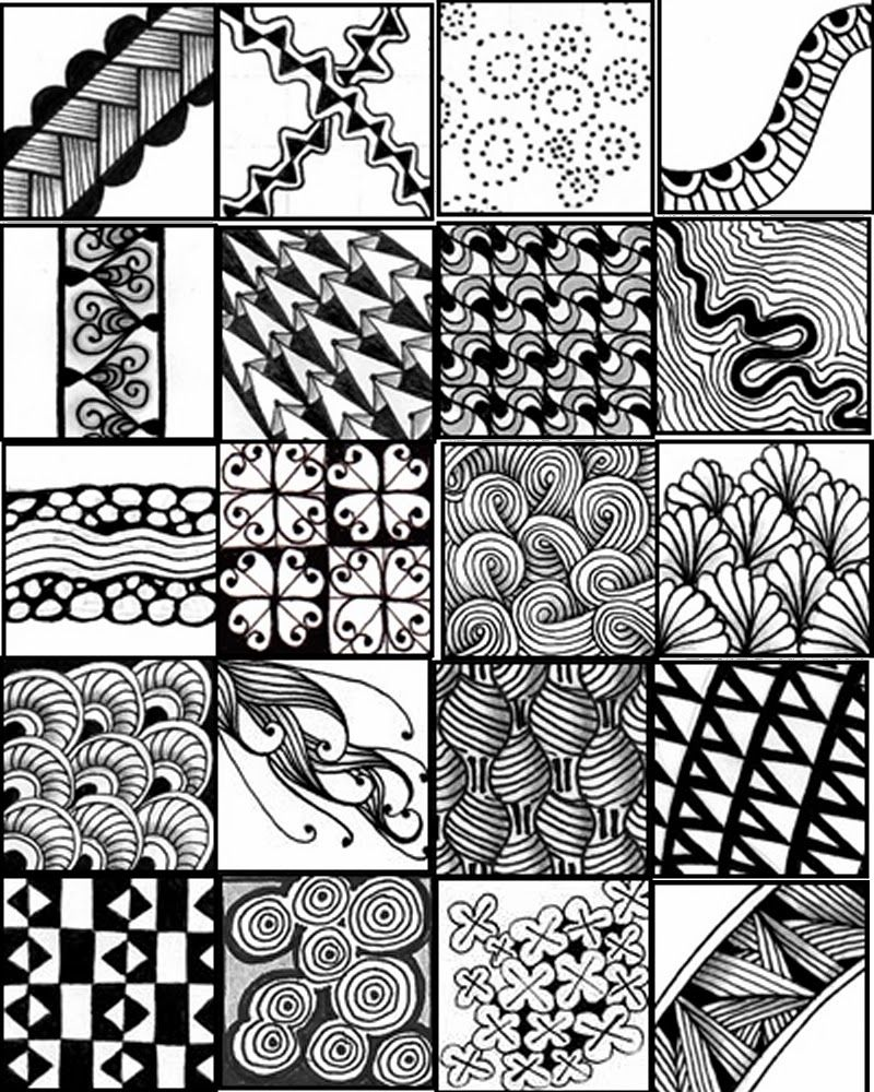 graphic about Printable Zentangle Patterns titled Printable Zentangle Layouts china Zentangle, Zentangle