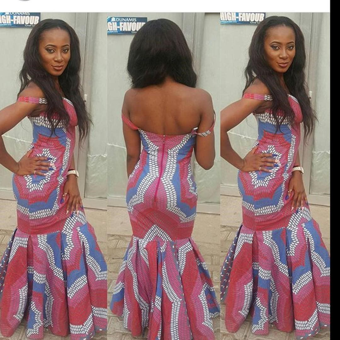 There are several ways to make oneself look fabulous with an Ankara fabric, Even if you are reasoning on what to make and slay with an aso ebi style. Nigerian Yoruba dress styles for events come in a good many patterns and designs.   The Ankara designs beauty of this print is that it comes in many designs and textures. Ankara will allow you make a accede of any fabric without losing the Ankara dress styles flair. #nigeriandressstyles