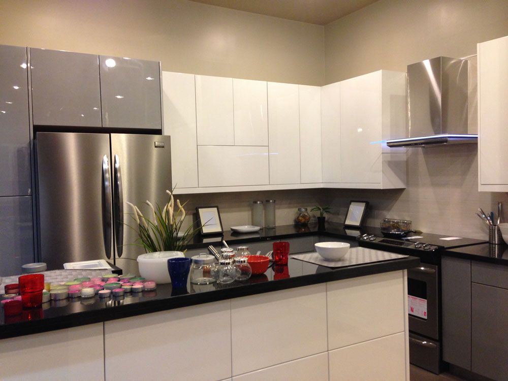 White And Grey Acrylic Led Range Hood Kitchen Remodel Decor
