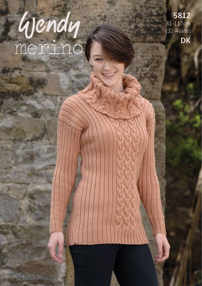 Polo and Cowl Neck Sweaters in Wendy Merino DK - 5812 | Yarn needle ...