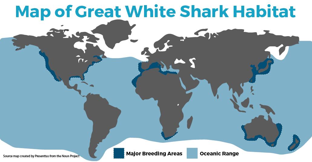 Great White Shark Habitat Map