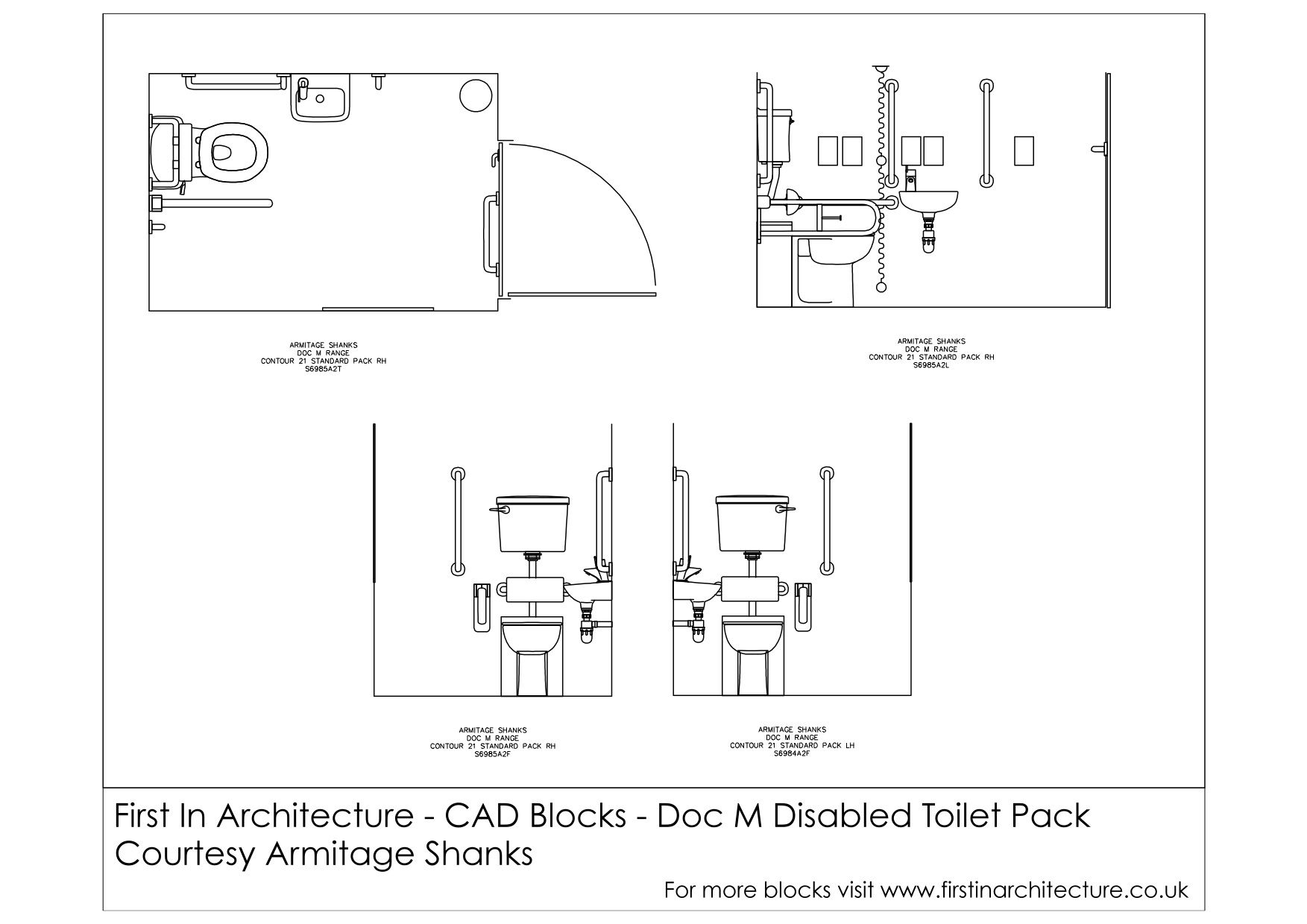 Bathroom Stalls Cad cad blocks - doc m disabled toilet | architecture | pinterest