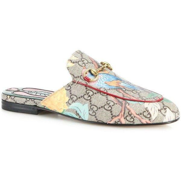 7ea2b41443d Gucci Princetown Gg Supreme Tian Print Leather Loafer Slides Sandals