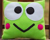Sanrio Keroppi Fleece Pillow. $20.00, via Etsy.