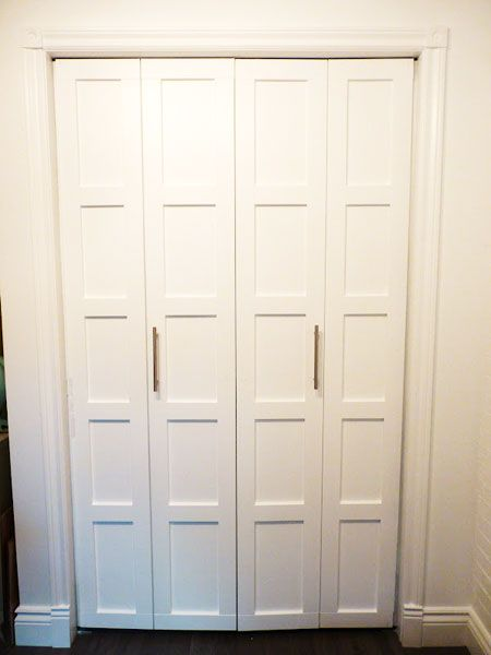 closet door ideas upgrade plain flat panel doors add architectural detail attaching bathroom removing painting sliding