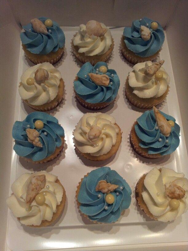 Beach Themed Bridal Shower Cupcakes Bridal Shower Cupcakes