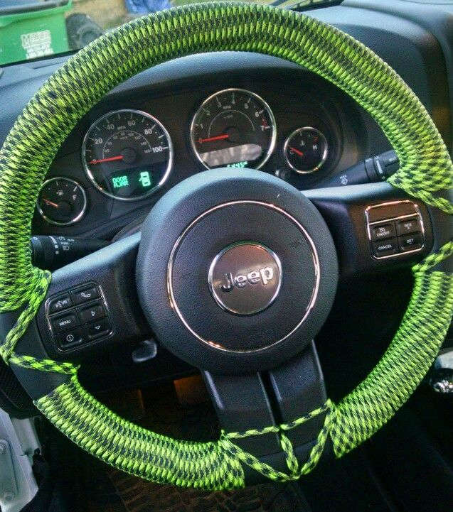 Paracord Steering Wheel Wrap Jeep Pickup Truck Dream Cars Jeep