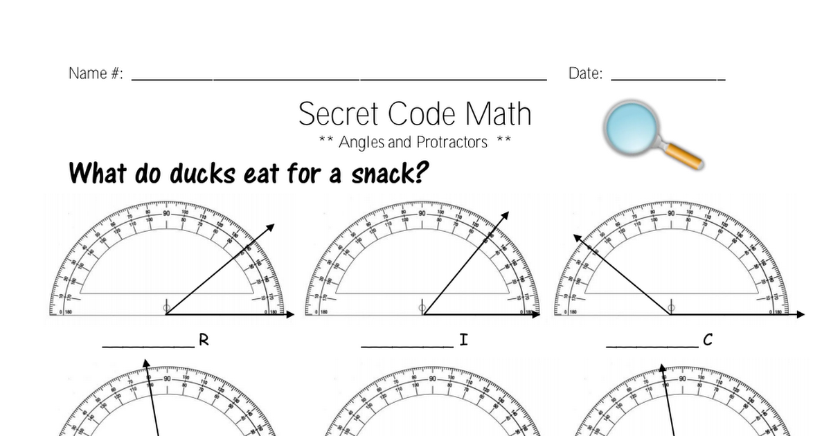 Angles and Protractors.pdf Protractor anchor chart