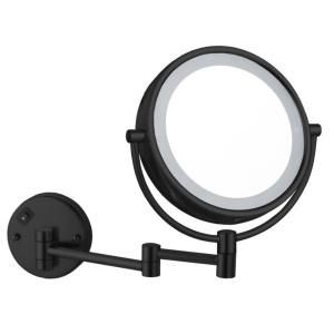 Nameeks Glimmer 8 In X 13 23 In Wall Mounted Led 5x Round Mirror