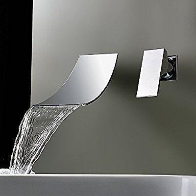 KINSE® Contemporain Mitigeur Mural Montage appareil Robinet Cascade - mitigeur mural salle de bain