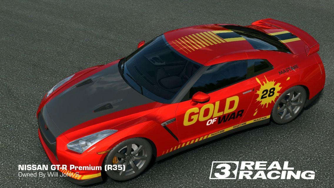 One Of Myfav Introducing Gold Of War Mymodificartion Realracing3 Nissan Gtrpremium