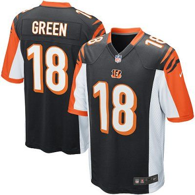 Bengals 18 A.J. Green Nike Game Jersey Home Black Team Color ... a7c5753f8