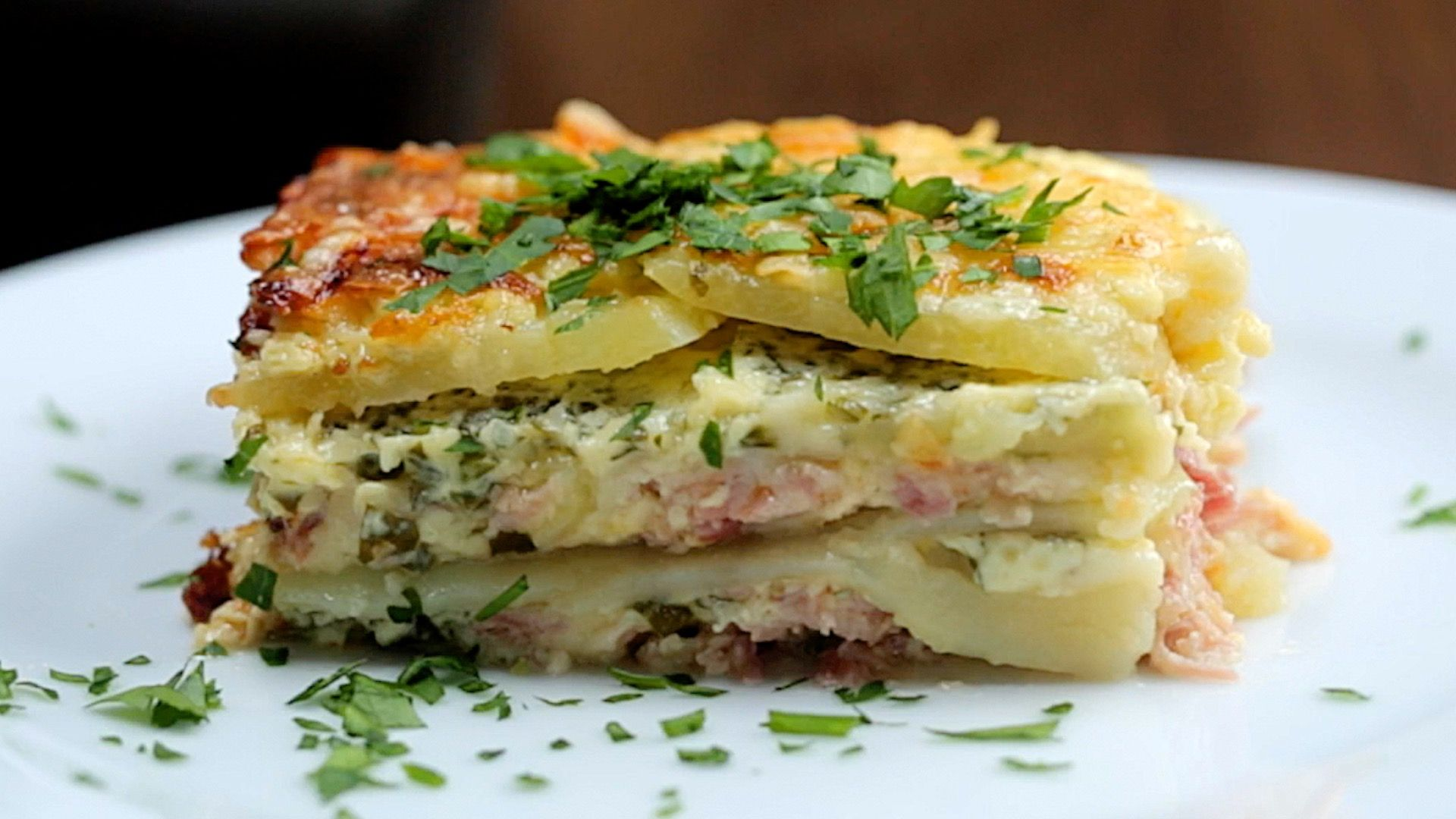 Cheesy Ham Potato Bake Recipe (With images) Ham potato