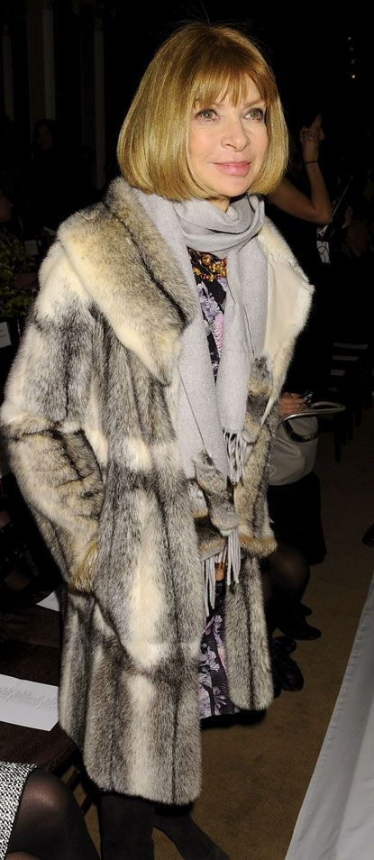 No one rocks  fur better than the numero one , one and only Anna Wintour !