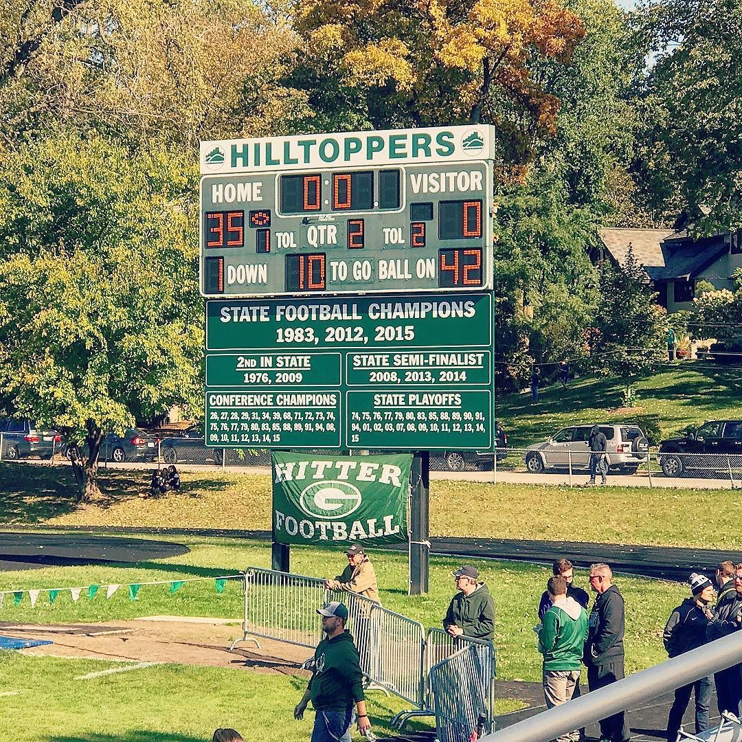 Glenbard West Football Varsity Beating Addison Trail 35 0 At Halftime Hitterfootball Ihsa Playoffsnext
