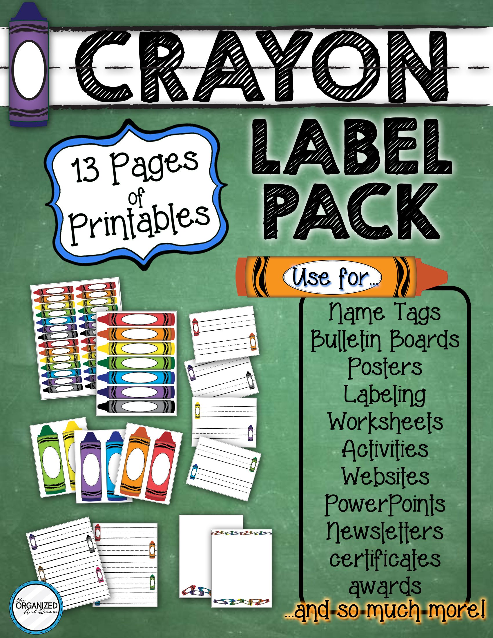 Printable Crayon Label Pack