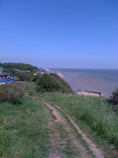 View along cliffs from St Margarets Bay Kent