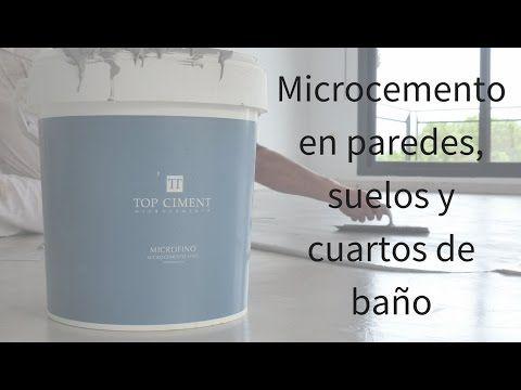 Microcemento aplicación en paredes, suelos y cuartos de baño - YouTube