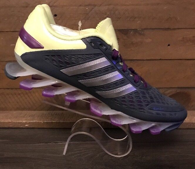 promo code 576af 5568b Adidas Springblade Womens Running Course Shoes Size 7.5 US New Purple Gray  Lime   eBay
