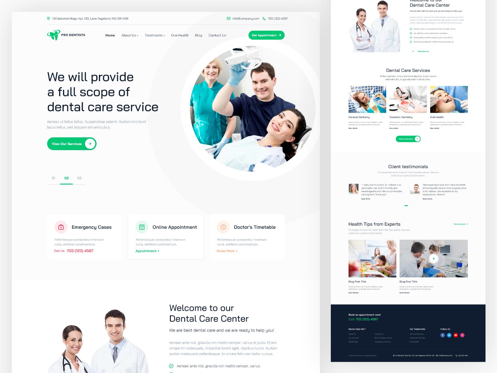 Dental Clinic Homepage 4x Dizajn Veb Sajtov Medicina Vrachi