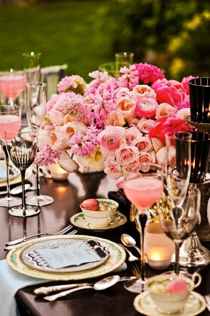 Vintage Wedding Centerpieces Eine Hochzeit In Rosa Feiern Uppige