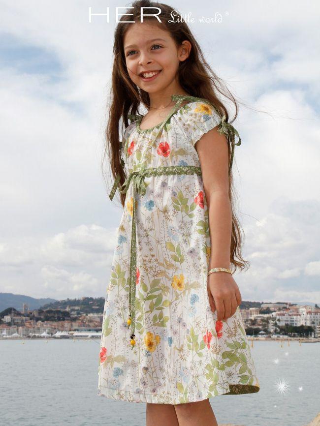 Patron couture gratuit robe fille 10 ans