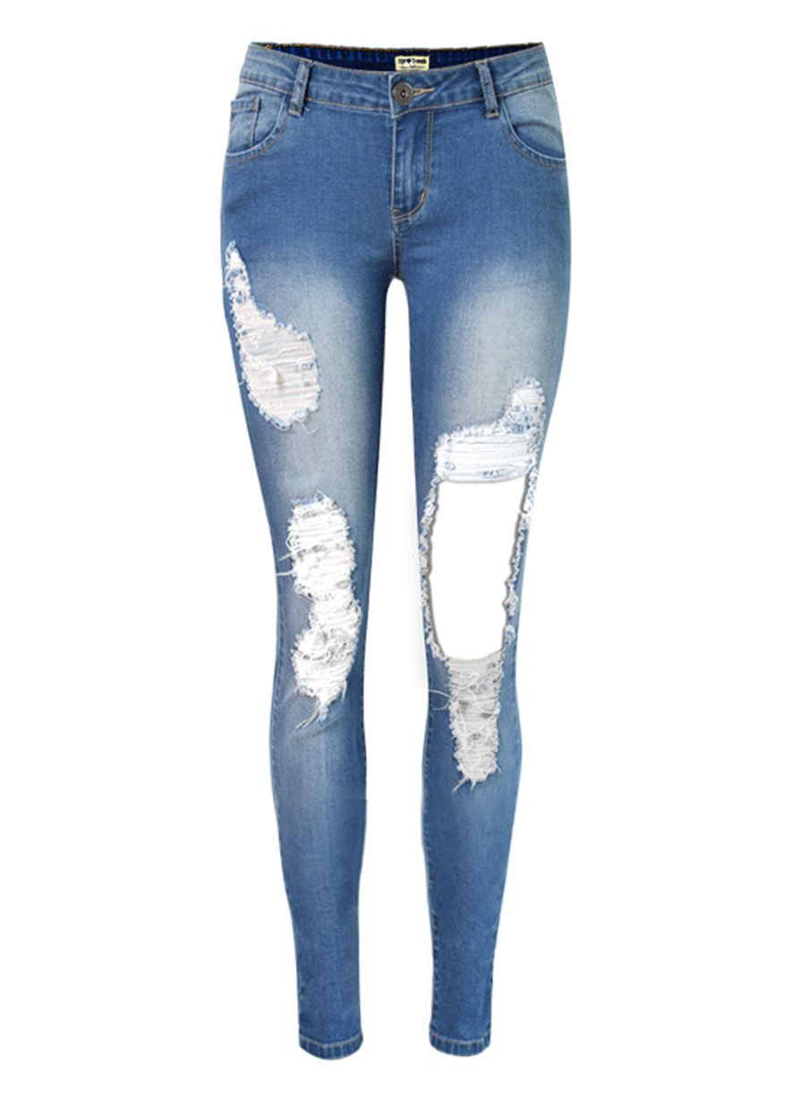 Cheap plus size skinny leg jeans