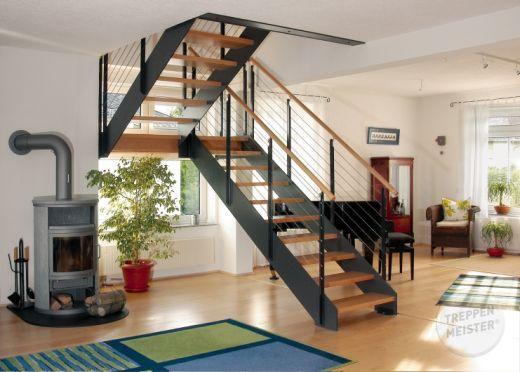 Escalier Bois Metal Ambiance Loft Et Escaliers Pinterest