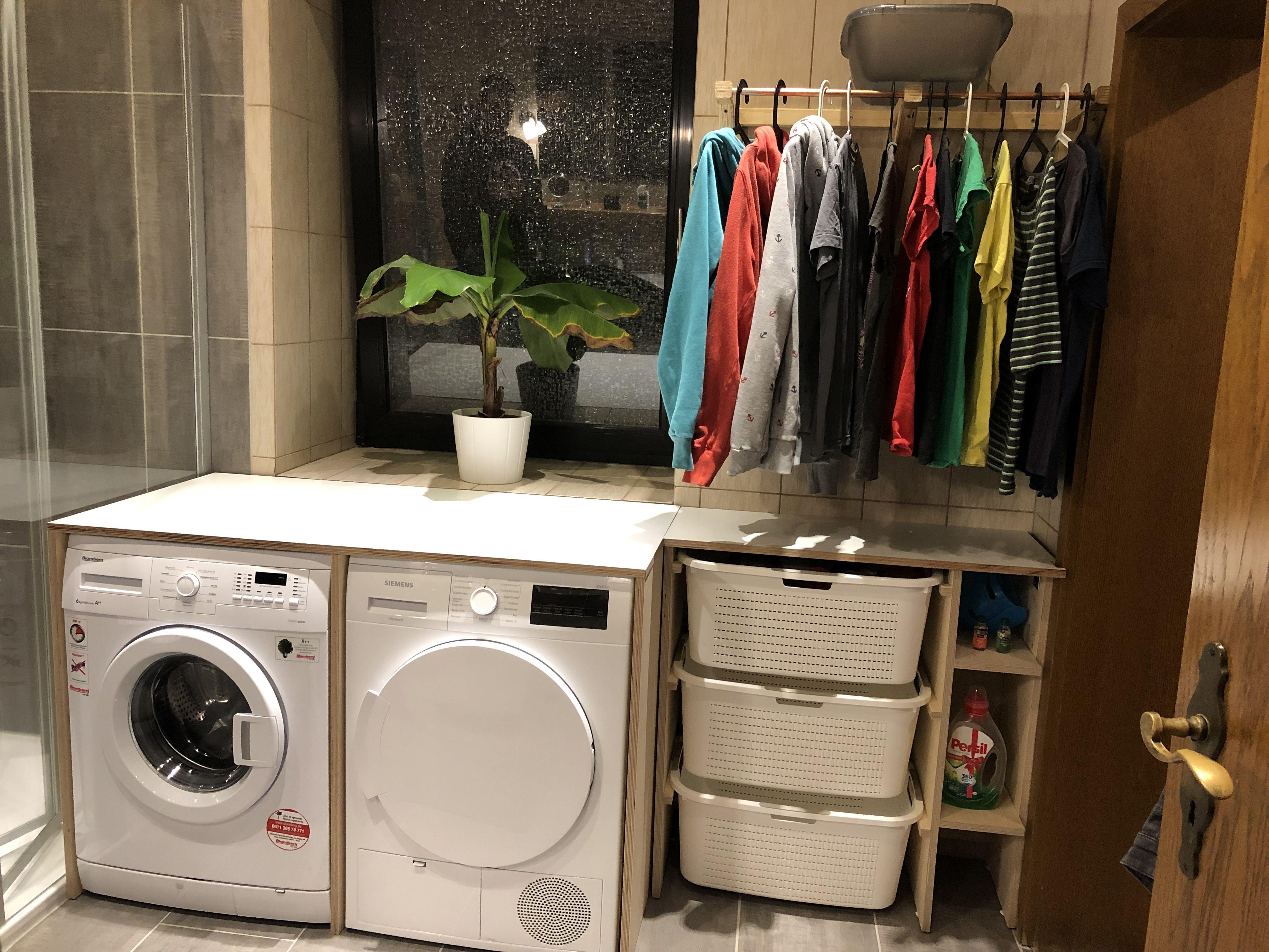 Waschekorb Schrank Waschmaschine Trockner Kleideraufbeahrung