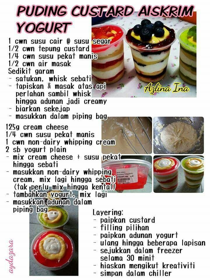 Puding Custard Ice Cream Yogurt Bakery Desserts Pudding Desserts Cake Recipes