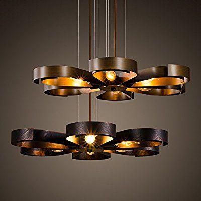 Wohnzimmer Restaurant | Kreative Industrie Stil Retro Petal Form Eisen Pendelleuchte
