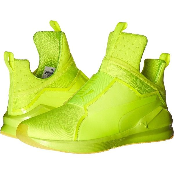 24b71efb6d6 PUMA Fierce Bright (Safety Yellow Safety) Women s Shoes ( 80) ❤ liked on Polyvore  featuring sport