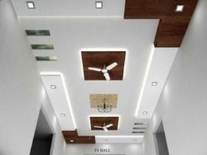 False Ceilings Design With Cove Lighting For Living Room 53