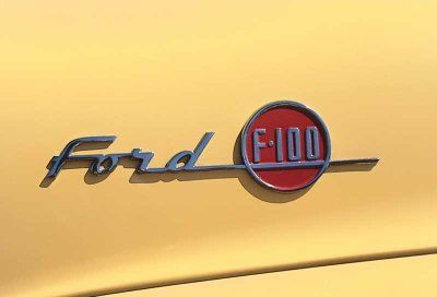 Despite All The Emphasis Placed On Exterior Styling Over The Years Such As The Snazzy Logo On The 1955 Ford F 100 Truck Shown A Car Badges Hood Ornaments Ford