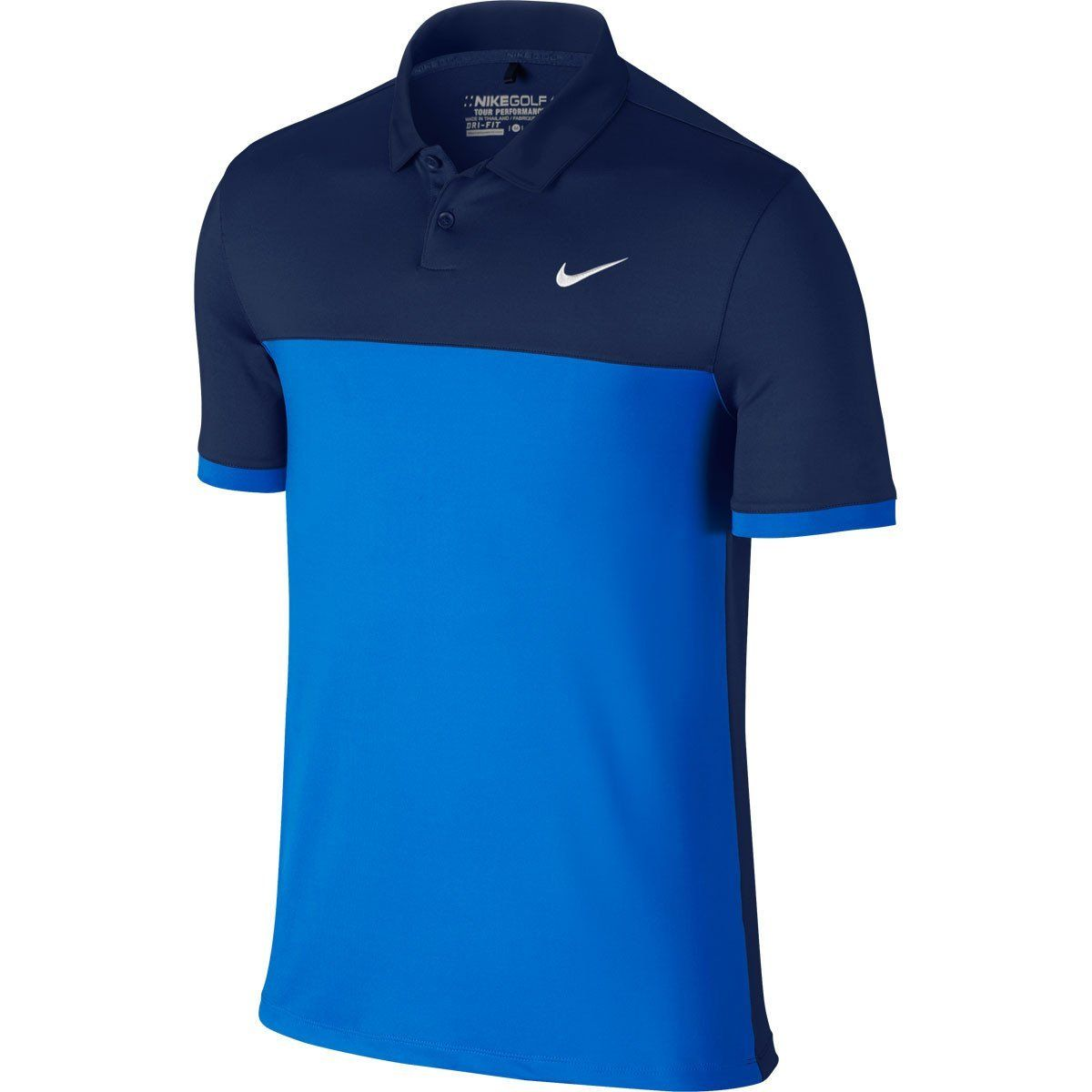 716d0a4e Nike Men's Midnight Navy/Photo Blue Icon Colour Block Polo in 2019 ...