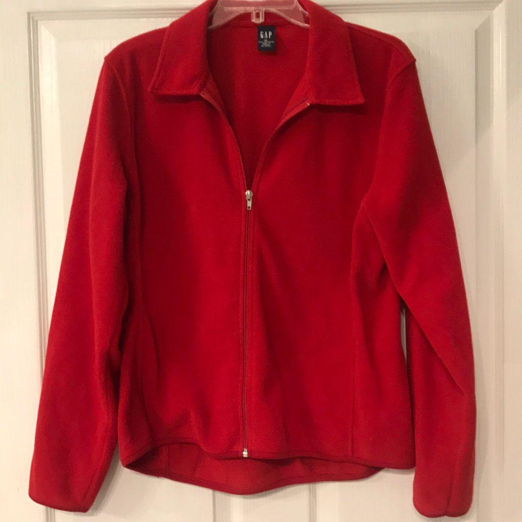 Vintage red gap fleece jacket products