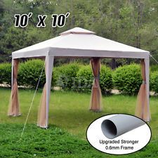10 X10 Outdoor Canopy Party Wedding Tent Garden Gazebo Pavilion Cater Events Outdoor Wedding Lighting Outdoor Tent Gazebo