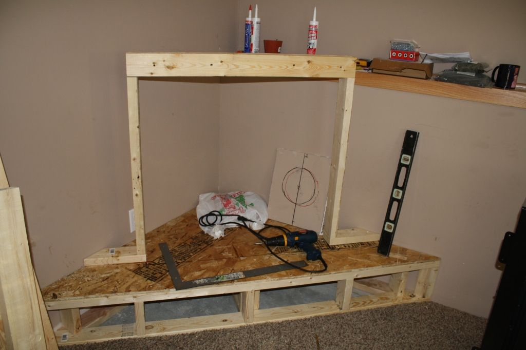 Corner redo diy fireplace for the home pinterest for Building a corner fireplace